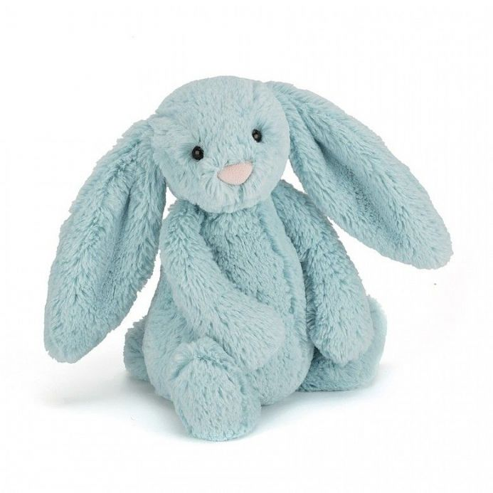 Medium Bashful Aqua  Bunny